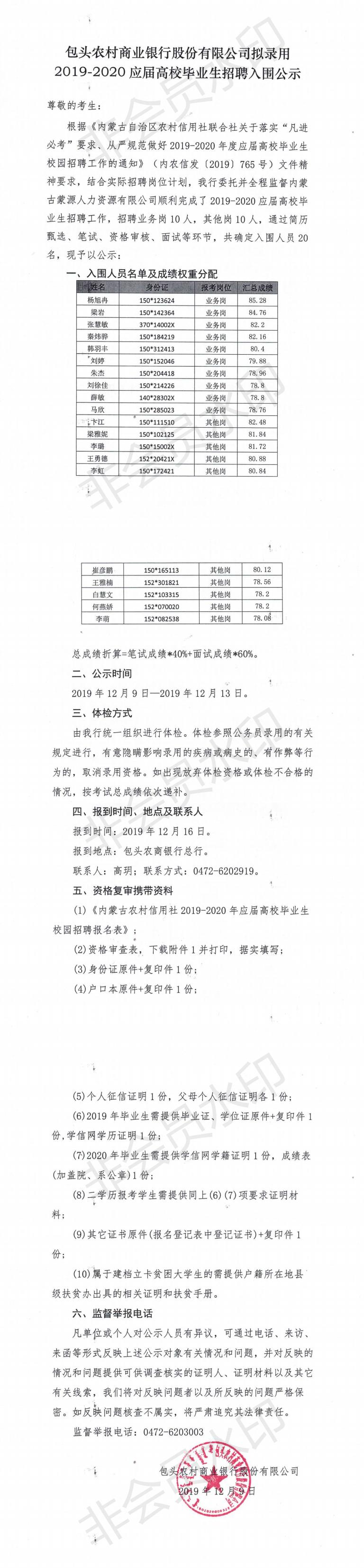 包头农商银行关于拟录用2019-2020应届高校毕业生招聘入围公示_0.png